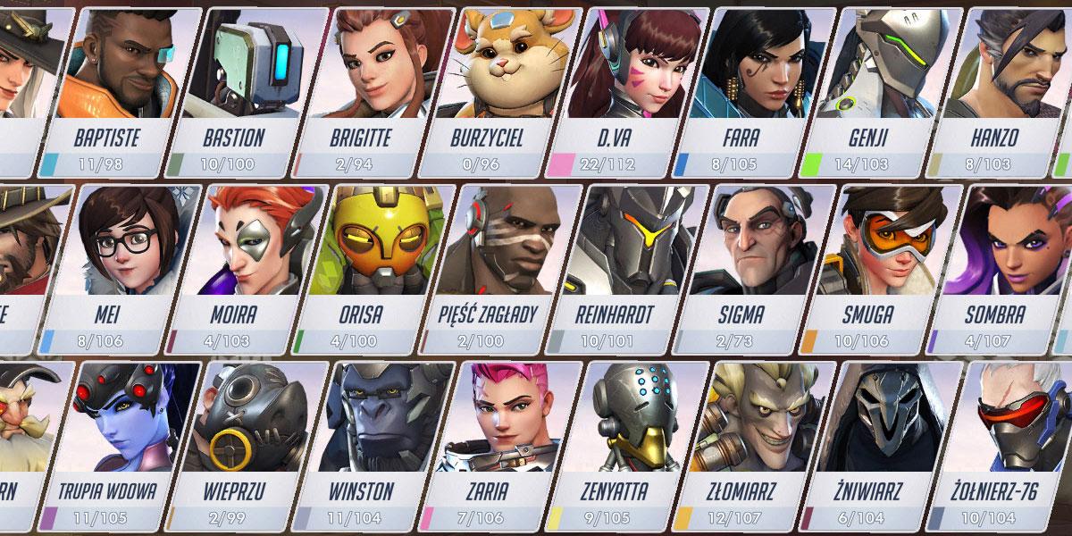 pule bohaterów znikają z overwatch