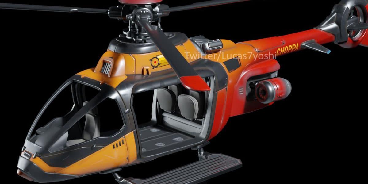 helikoptery w Fortnite