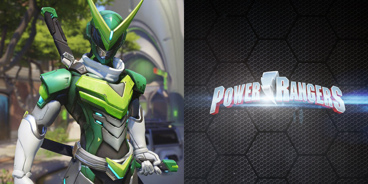 overwatch power rangers crossover