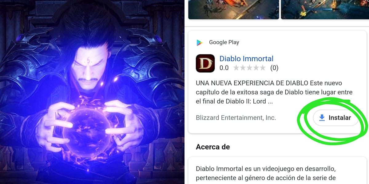 instalator diablo immortal w google play
