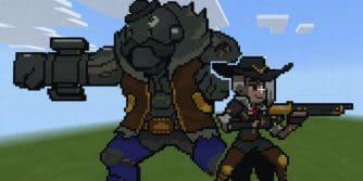 spreje piksele z Overwatch w Minecraft