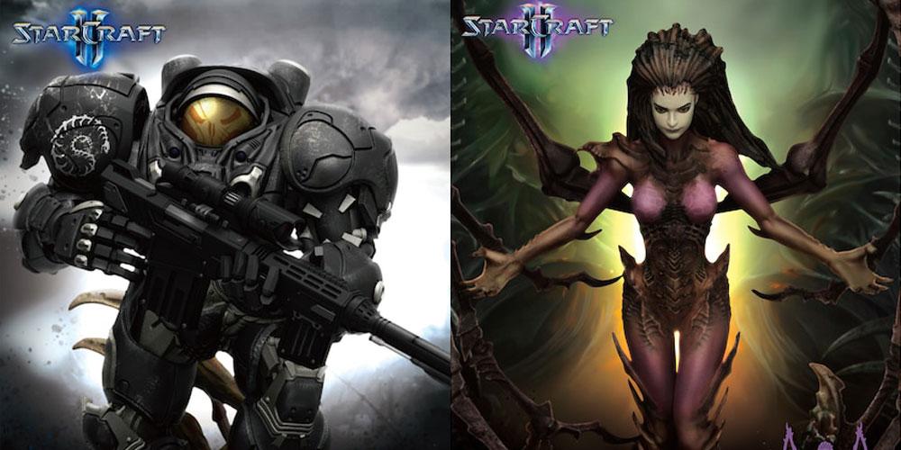 nowe statuetki kerrigan i raynora na rocznicę Starcraft 2