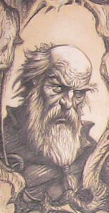 Deckard Cain podczas wychowywania Lei