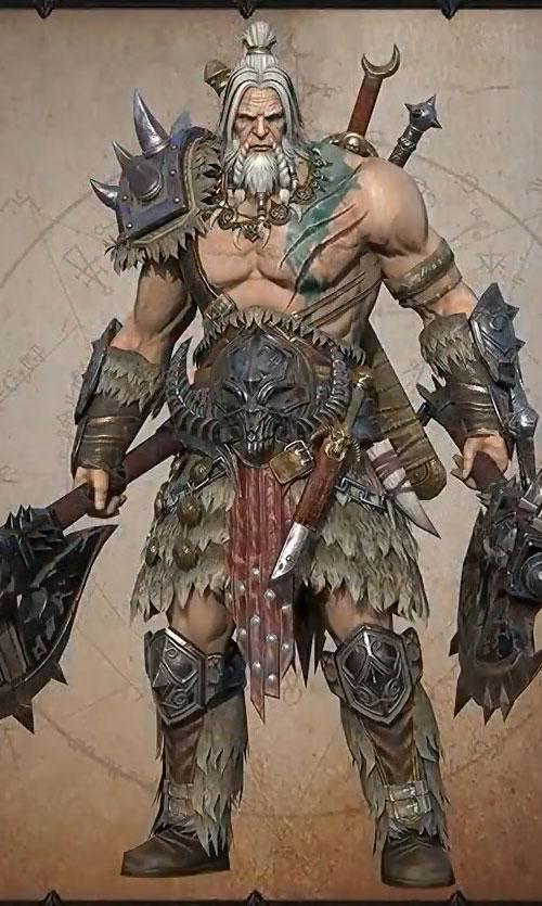 postać barbarzyńcy z Diablo Immortal