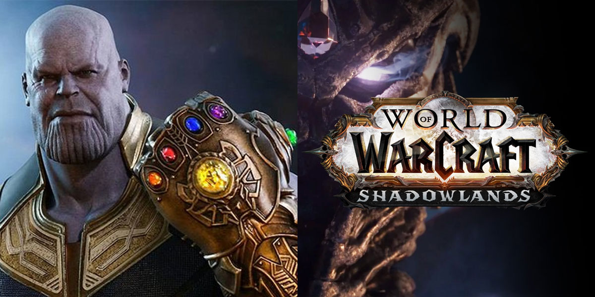 rękawica nieskończoności z Avengers w World of Warcraft Shadowlands