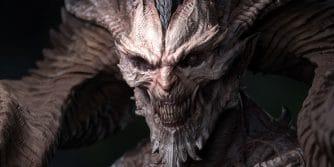 fanowskie popiersie Mefisto z Diablo IV