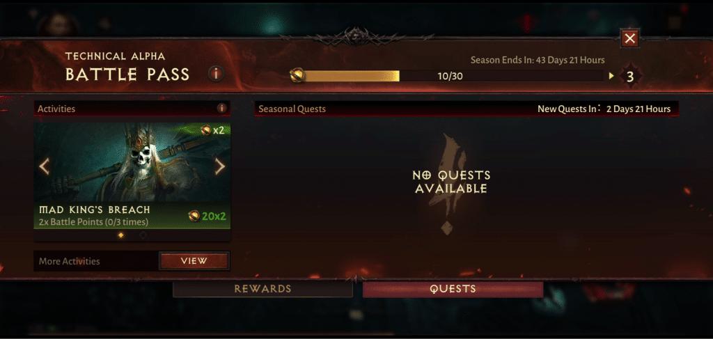 Zadania w Battle Pass Diablo Immortal