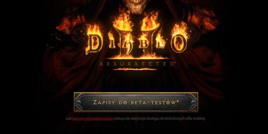 ruszyły zapisy do beta testów Diablo 2 Resurrected