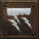 Umiejętność Czarodziejki z Diablo II - Burza z piorunami