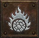 Umiejętność Druida w Diablo II - Kula Magmy
