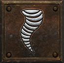 Umiejętność Druida w Diablo II - Tornado