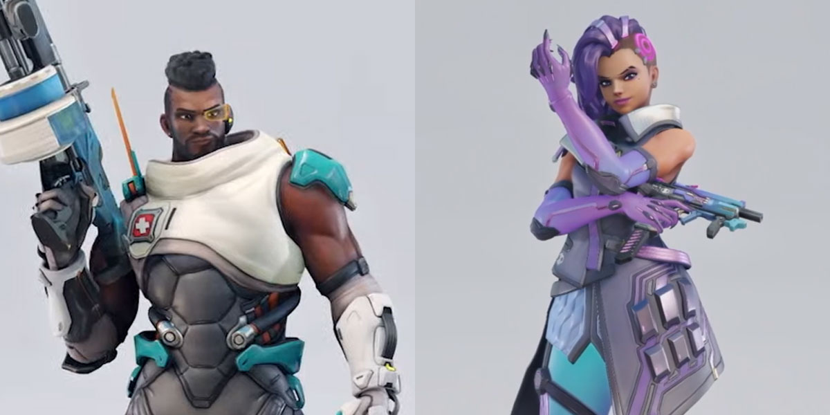 nowe reskiny Baptiste i Sombry z Overwatch 2